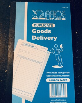 574 Goods Delivery Book 100 sets
