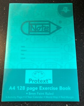 1174 A4 PP Exercise book 128pg