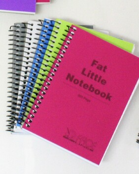 1072 Fat Little Note Book 300pg, Twin Wire