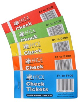 Check Tickets 100/s Boxed in 50/bks