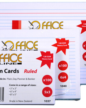 1043 8 x 5 Ruled Systems Cards 100s
