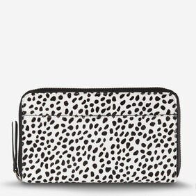 Status Anxiety Delilah Snow Cheetah Leather Wallet