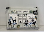 Vendula Black and White Cat Cafe Pouch Bag
