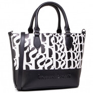 Desigual Black and White Two in One Shopper Bag