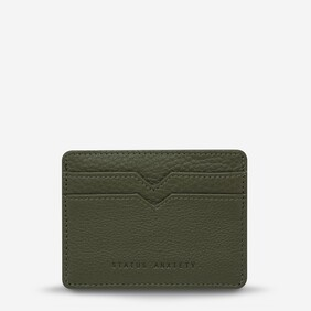 Status Anxiety Together For Now Card Holder Khaki