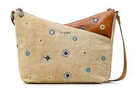 Desigual Beige Crossbody with Embodied Detailing