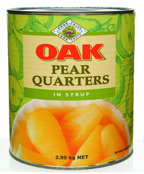 Pear 1/4s in Syrup A10 Can