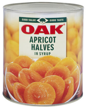 Apricot 1/2s  in Syrup A10 Can