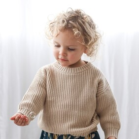 Burrow & Be Knit Slouch Sweater - Sand