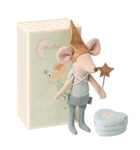 Maileg Mouse Tooth Fairy in Box - Boy