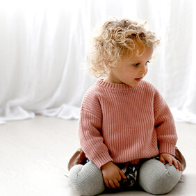 Burrow & Be Knit Slouch Sweater - Pink