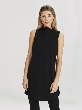 Juliette Hogan Carly Tunic - Black Luxe Suiting