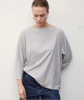 Kowtow Relaxed Boat Neck - Grey Marle