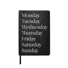 An Organised Life Monday Lined Notebook - Black