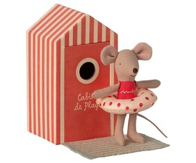 Maileg Beach Mouse in Cabin - Little Sister