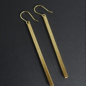 Gold Plated Tube - Textured