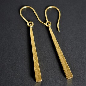 Gold Plated Taper Drops - Textured