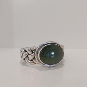 Woven Bracelet with Pounamu