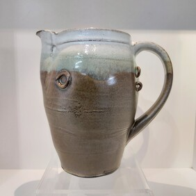 Brown and White Jug