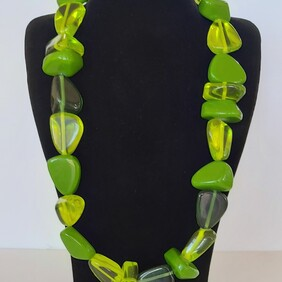Necklace - Lime Green