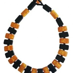Romeo Necklace - Gold and Black