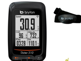   BRYTON RIDER 310H GPS CYCLE COMPUTER WITH HEART RATE
