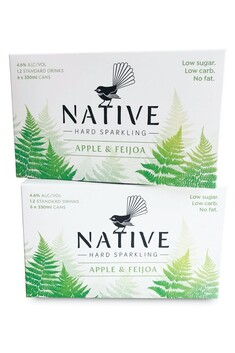 NATIVE HARD SPARKLING APPLE AND FEIJOA 6 PACK