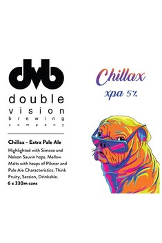 DOUBLE VISION BREWING CHILLAX XPA 5% 6 PACK