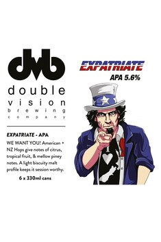 DOUBLE VISION BREWING EXPATRIATE APA 5.6% 6 PACK