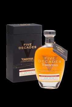 TOMINTOUL FIVE DECADES 50TH ANNIVERSARY SPEYSIDE SINGLE MALT WHISKY 50% 700ML