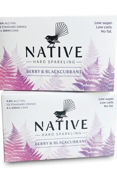 NATIVE HARD SPARKLING BERRY AND BLACKCURRANT 6 PACK