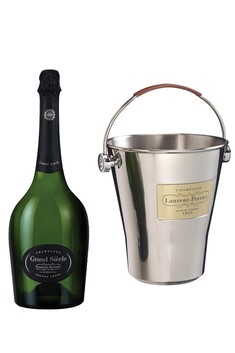 LAURENT PERRIER GRAND SIECLE 750ML BOXED GIFT SET - TWO GLASSES + ICE BUCKET
