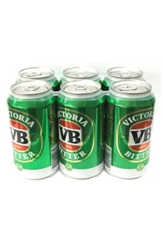 VICTORIA BITTER BEER 375ml CANS 6 PACK