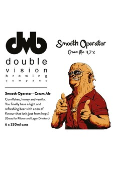 DOUBLE VISION BREWING SMOOTH OPERATOR CREAM ALE 4.7% 6 PACK