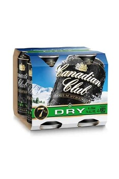 CANADIAN CLUB AND DRY 7%  4PACK CANS