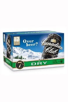 CANADIAN CLUB AND DRY 7% 12PACK CANS