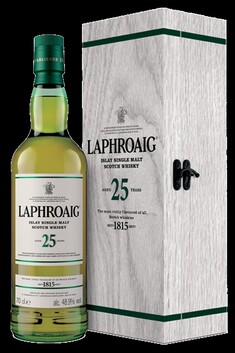 LAPHROAIG 25 YEAR OLD IN WOODEN GIFT BOX