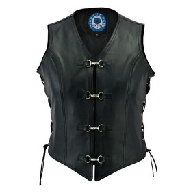 Johnny Reb Womens Sapphire Leather Vest