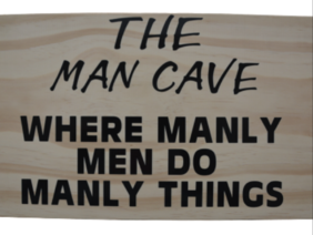 Wooden Sign Man Cave