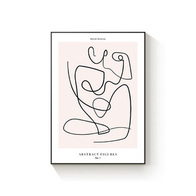 Abstract Figures No.1 framed canvas 50x70cm