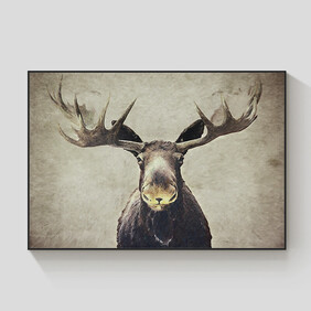 Malcolm the Moose framed canvas 120x90cm