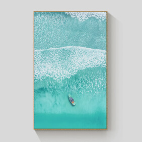 Alone Time framed canvas 70x100cm