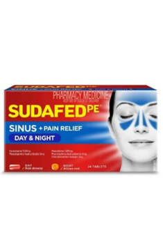Sudafed PE Day and Night 24 Tablets