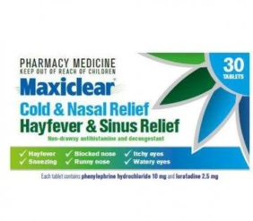 Maxiclear Cold and Hayfever Sinus 30 Tablets