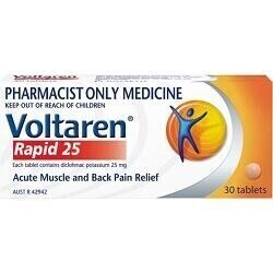 Voltaren Rapid 25mg 30 Tablets -  INSTORE CONSULTATION REQUIRED