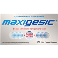 Maxigesic Pain Relief 20 Tablets