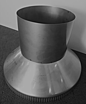 Stainless Steel Flashing Cone / Casing Cover for Wood Fire Flue System