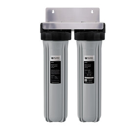 """Puretec Whole House Dual Water Filter System with Filter Cartridges (20"""") 60 LPM"""