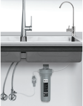 Puretec SIB1-PL Undersink Water Filter System with Faucet and Pressure Limiting Valve