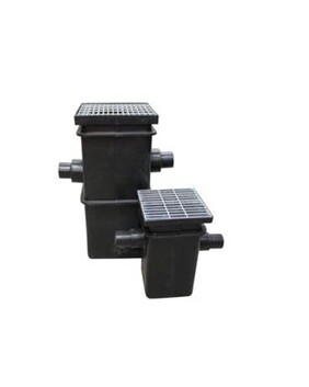 PLASTIC SUMP WITH OUTLETS & WEB FORGE GRATE